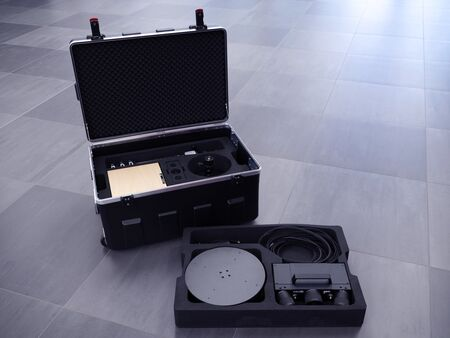 Case with 3D scanning equipment
