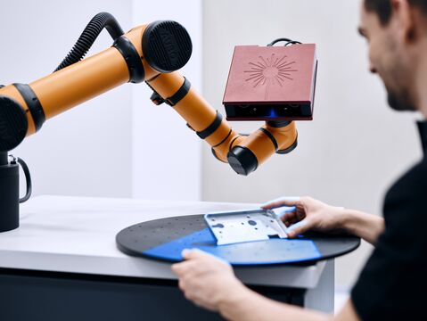 Part measurement with ATOS Core on GOM ScanCobot